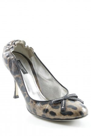 Dolce & Gabbana High Heels schwarz-braun Animalmuster Animal-Look