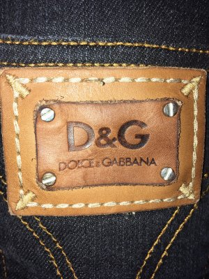 Dolce & Gabbana Pantalón de cinco bolsillos gris antracita Algodón