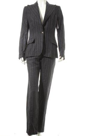 Dolce & Gabbana Hosenanzug grau-dunkelgrau Streifenmuster Casual-Look