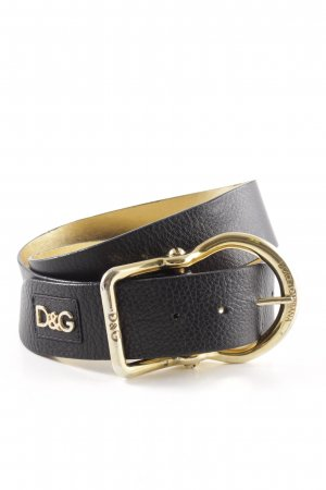 Dolce & Gabbana Hip Belt black-gold-colored casual look