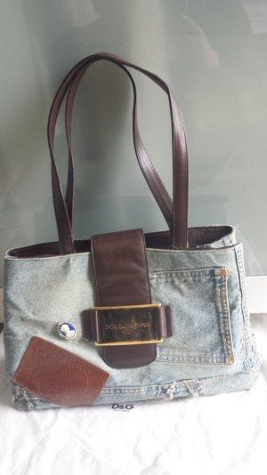 Dolce&Gabbana Jeans/Leder Shopper