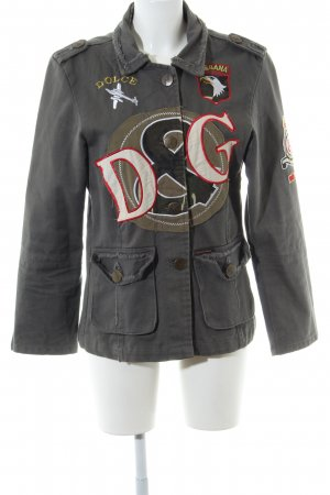 Dolce & Gabbana Jeansjacke Motivdruck Casual-Look