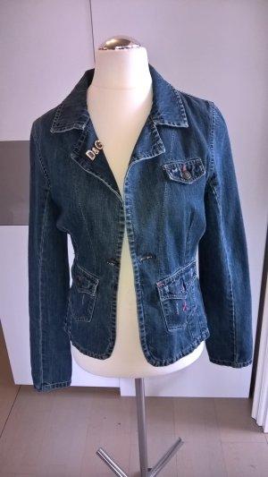 Dolce & Gabbana Veste en jean bleu coton