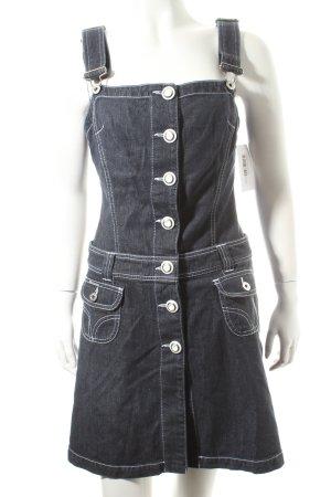 Dolce & Gabbana Jeanskleid dunkelblau-weiß Casual-Look