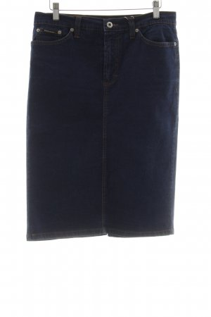 Dolce & Gabbana Jeansrock dunkelblau schlichter Stil