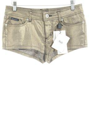 Dolce & Gabbana Jeansshorts goldfarben Casual-Look