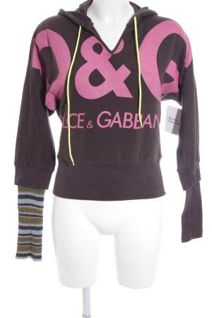 Dolce & Gabbana Kapuzenpullover mehrfarbig Casual-Look