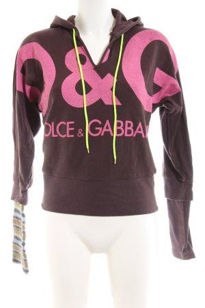 Dolce & Gabbana Kapuzenpullover Motivdruck Casual-Look