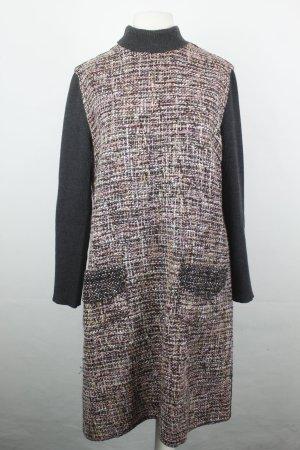 Dolce & Gabbana Kleid Gr. ital. 44 / dt. 38 schwarz rot nude langarm