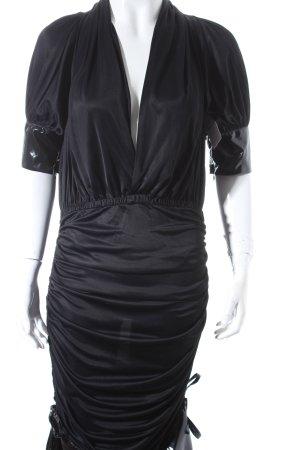 Dolce & Gabbana Kleid schwarz Lack-Optik