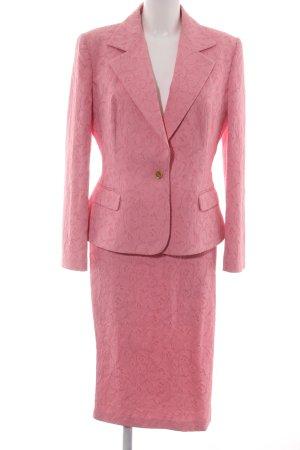 Dolce & Gabbana Kostüm pink Blumenmuster Business-Look