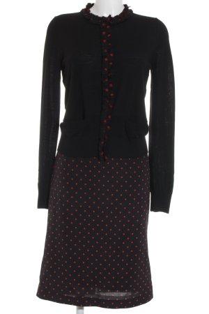 Dolce & Gabbana Tailleur noir-rouge motif de tache élégant