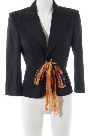 Dolce & Gabbana Kurz-Blazer schwarz-hellorange Blumenmuster Casual-Look