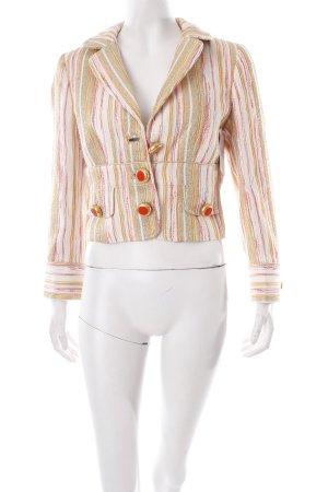 Dolce & Gabbana Kurz-Blazer Streifenmuster extravaganter Stil