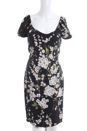 Dolce & Gabbana Kurzarmkleid Blumenmuster Romantik-Look