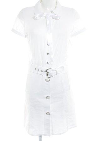 Dolce & Gabbana Kurzarmkleid weiß Casual-Look