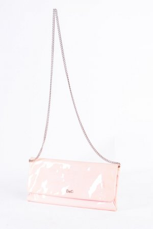 Dolce & Gabbana Clutch pink-silver-colored leather
