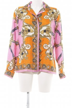 Dolce & Gabbana Langarm-Bluse abstraktes Muster Casual-Look