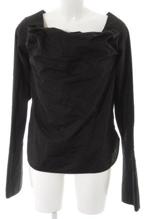Dolce & Gabbana Langarm-Bluse schwarz Business-Look