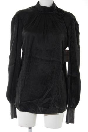 Dolce & Gabbana Langarm-Bluse schwarz Elegant
