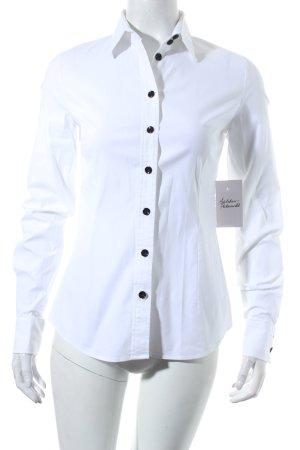 Dolce & Gabbana Langarm-Bluse weiß-schwarz Business-Look