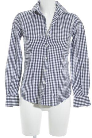 Dolce & Gabbana Langarmhemd dunkelblau-weiß Karomuster klassischer Stil