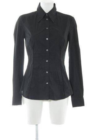 Dolce & Gabbana Langarmhemd schwarz Business-Look
