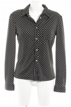 Dolce & Gabbana Langarmhemd schwarz-creme Punktemuster klassischer Stil