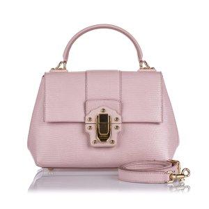 Dolce&Gabbana Leather Lucia Satchel