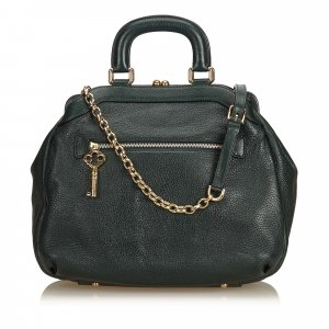 Dolce & Gabbana Satchel dark green leather