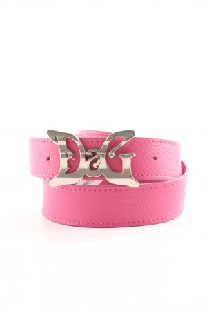 Dolce & Gabbana Leather Belt pink casual look