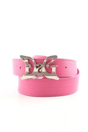 Dolce & Gabbana Ceinture en cuir rose style décontracté