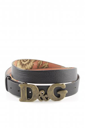 Dolce & Gabbana Leather Belt black street-fashion look