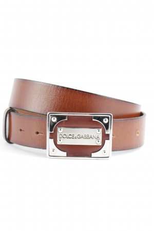 Dolce & Gabbana Leather Belt brown casual look