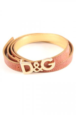 Dolce & Gabbana Leather Belt brown-gold-colored embossed logo