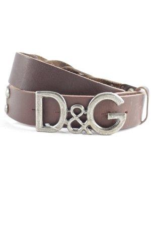 Dolce & Gabbana Ledergürtel braun klassischer Stil