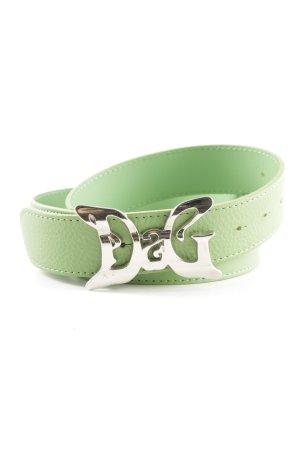 Dolce & Gabbana Ceinture en cuir vert style décontracté
