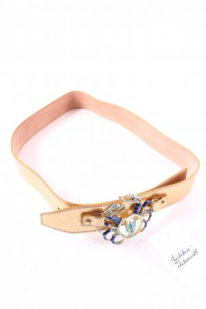 Dolce & Gabbana Ledergürtel goldfarben extravaganter Stil