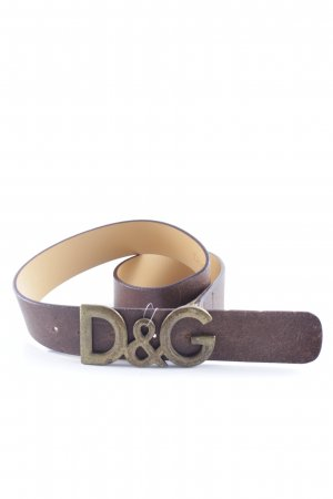 Dolce & Gabbana Leather Belt grey brown-bronze-colored street-fashion look