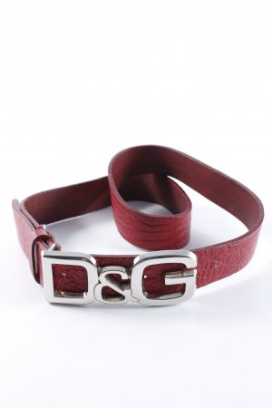 Dolce & Gabbana Leather Belt carmine street-fashion look