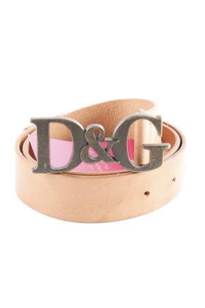 Dolce & Gabbana Leather Belt nude boyfriend style