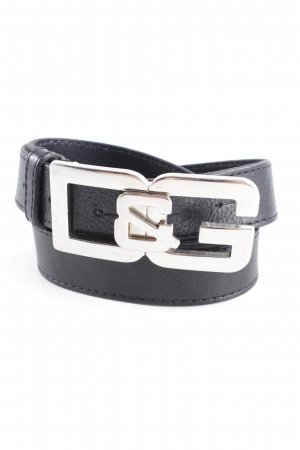 Dolce & Gabbana Leather Belt black-silver-colored casual look