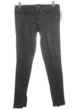 Dolce & Gabbana Lederhose schwarz extravaganter Stil