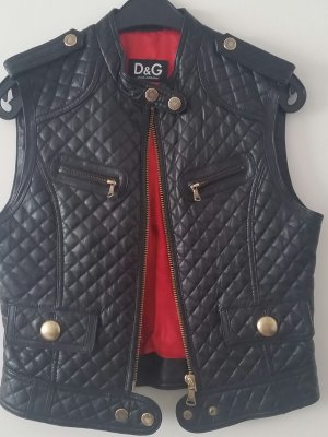 Dolce & Gabbana Leather Vest black leather