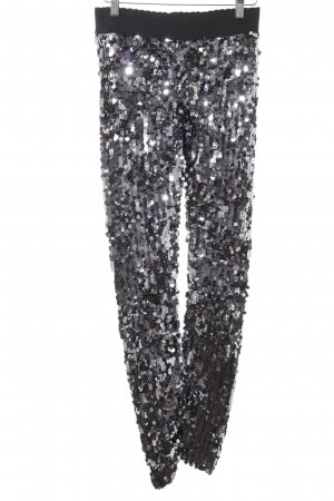 Dolce & Gabbana Leggings black-silver-colored extravagant style