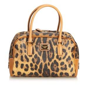 Dolce&Gabbana Leopard Printed Boston Bag
