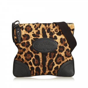 Dolce&Gabbana Leopard Printed Cotton Crossbody Bag