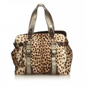 Dolce&Gabbana Leopard Printed Ponyhair Tote