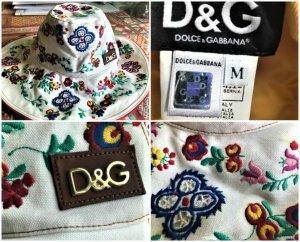 Dolce & Gabbana Chapeau de soleil multicolore coton