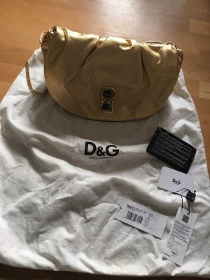 Dolce & Gabbana Crossbody bag gold-colored leather
